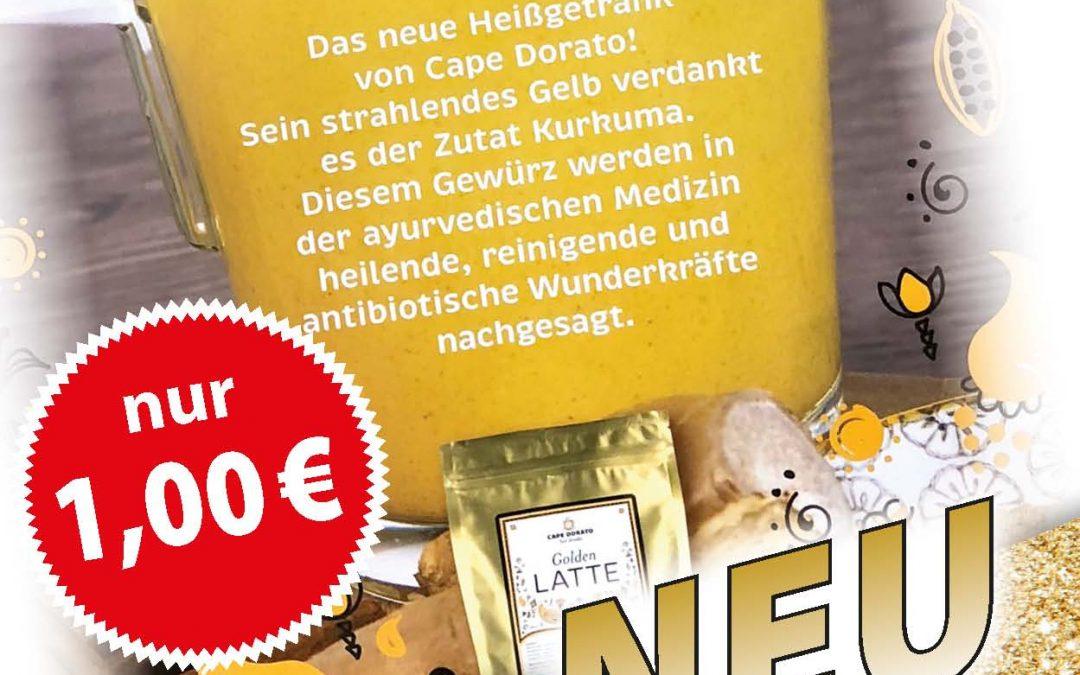 Neu auf der Speisekarte Golden Latte /Chai